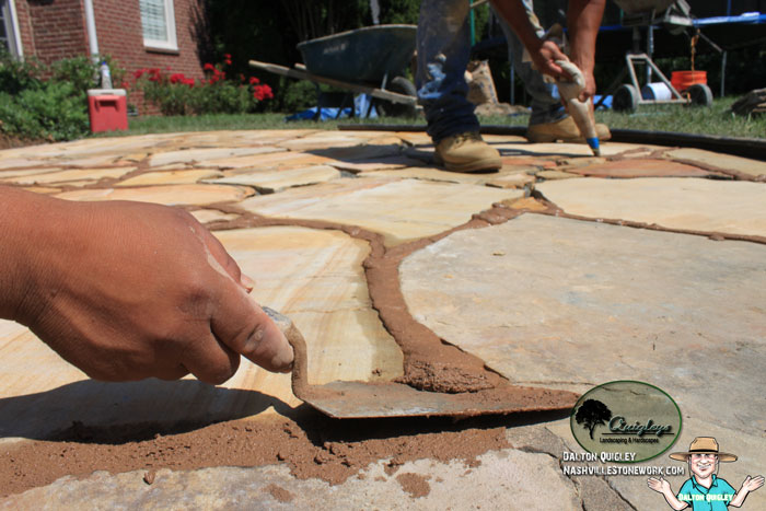Stonework Repairs Building A Matching Flagstone Patio Extension - Patio repairs